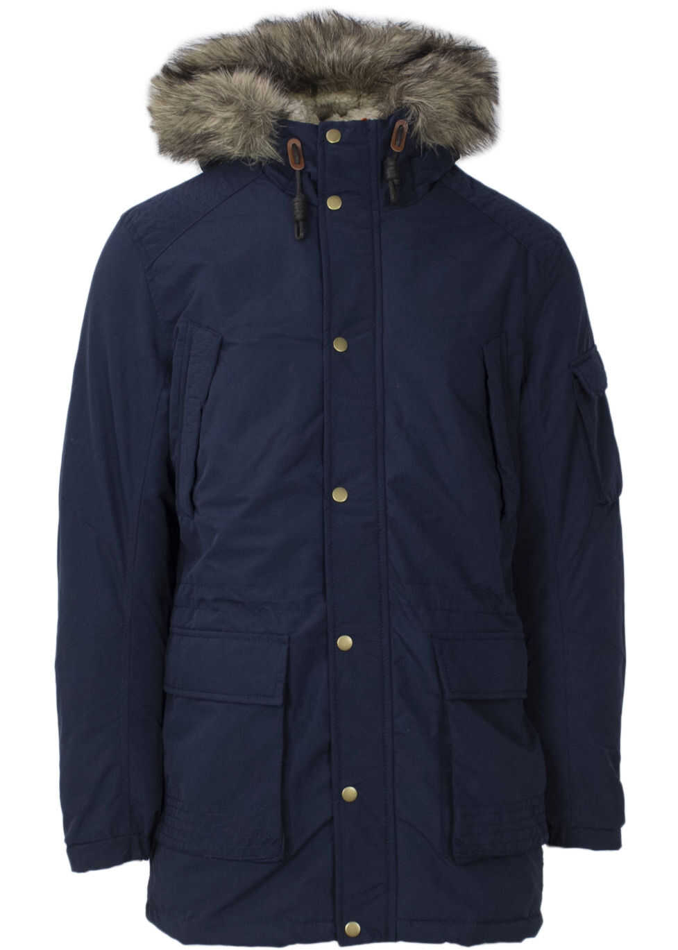 JACK & JONES 12138336Blue Polyester Coat BLUE