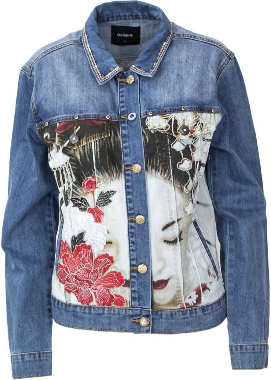 Desigual Cotton Jacket BLUE