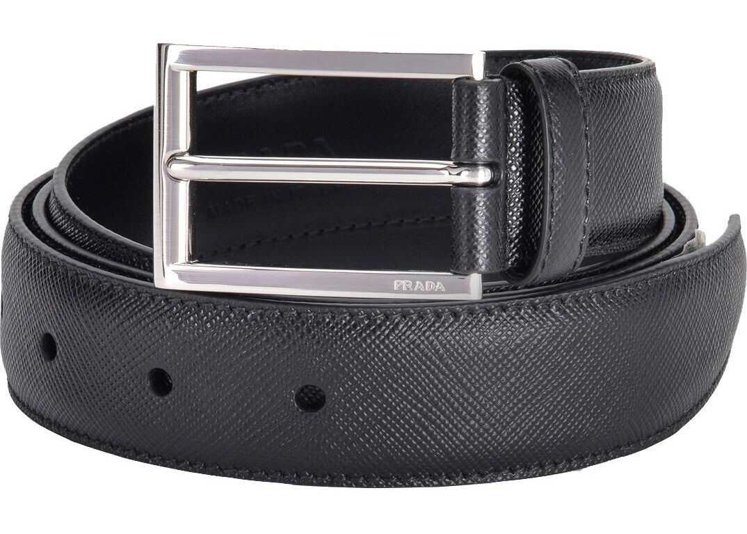 Prada 2Cc001053F0002 Leather Belt BLACK