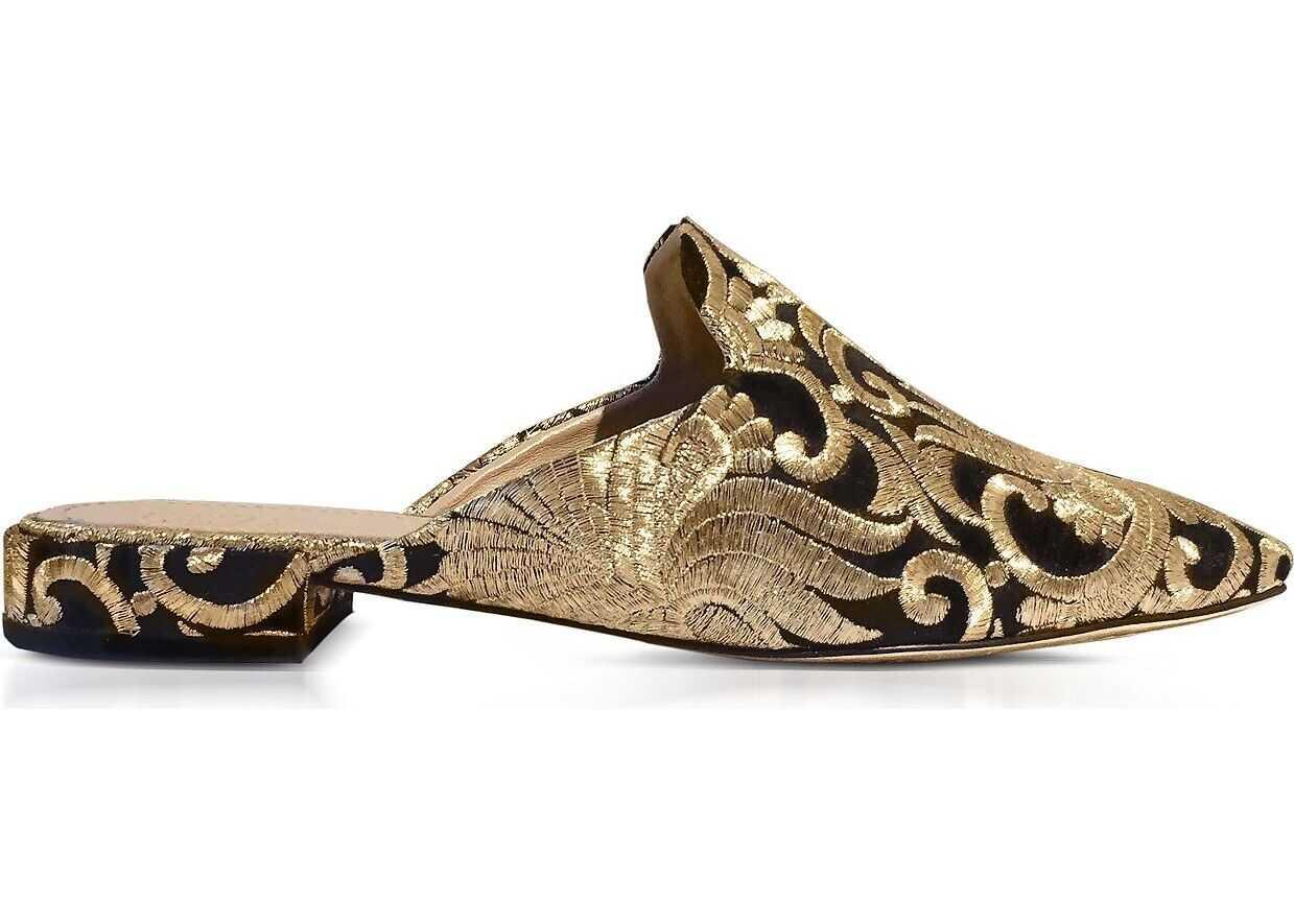 Tory Burch Fabric Sandals BLACK/GOLD