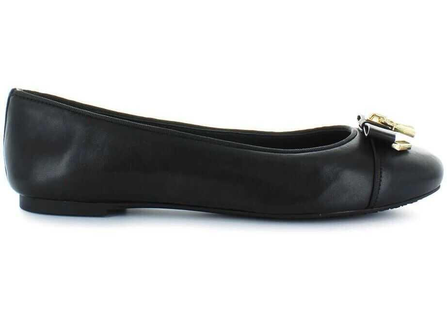 Michael Kors Leather Flats BLACK