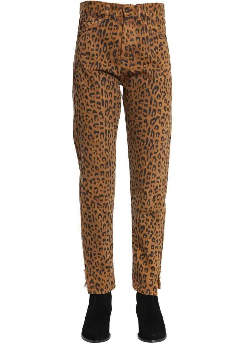 Saint Laurent Cotton Jeans BROWN