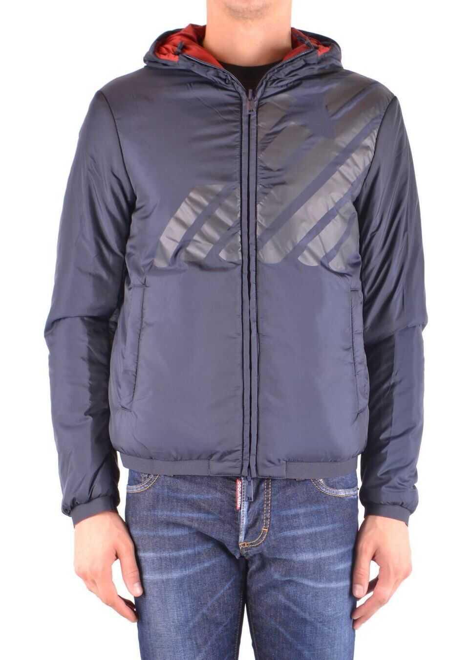 Emporio Armani Polyester Outerwear Jacket BLUE