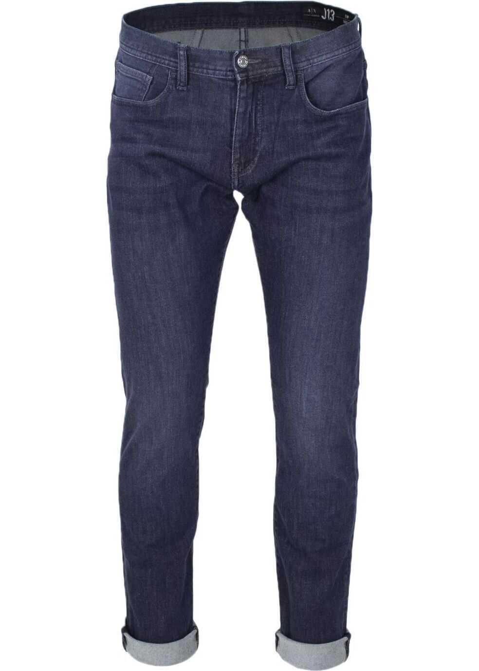 Armani Exchange Cotton Jeans BLUE