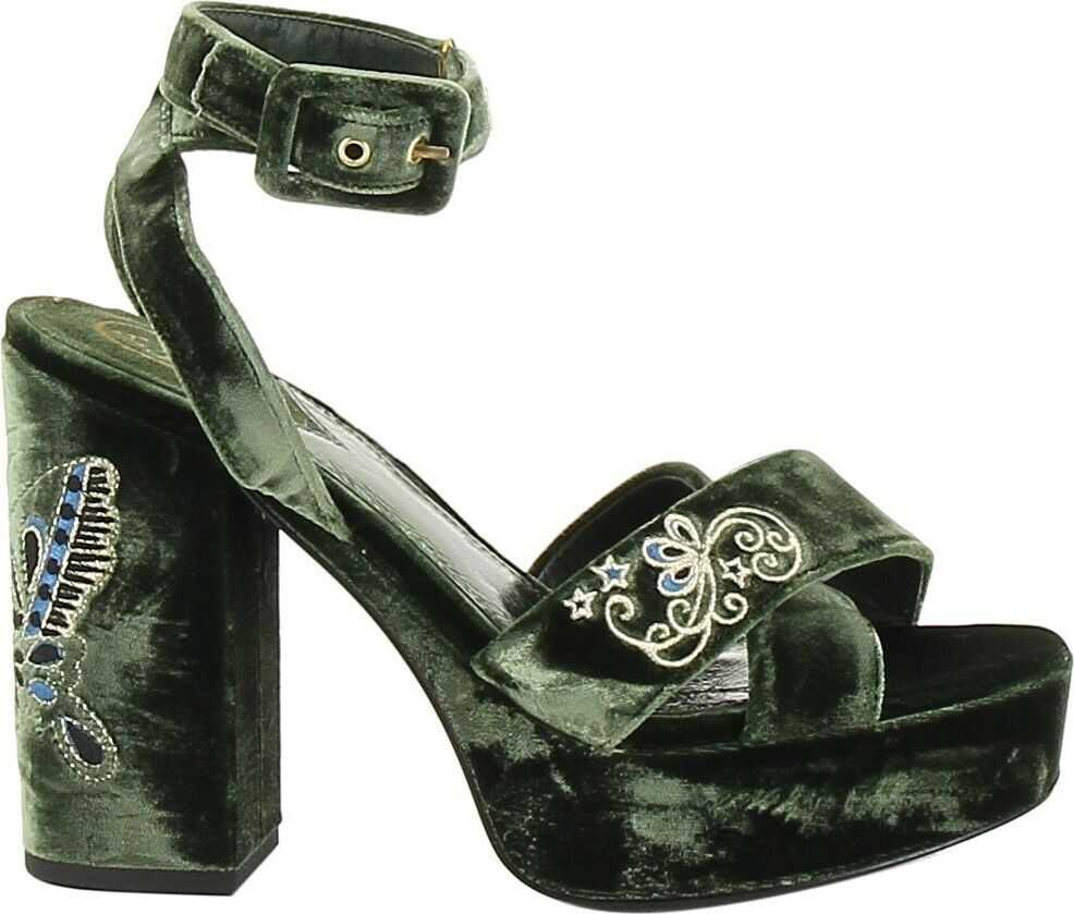 ASH Suede Sandals GREEN