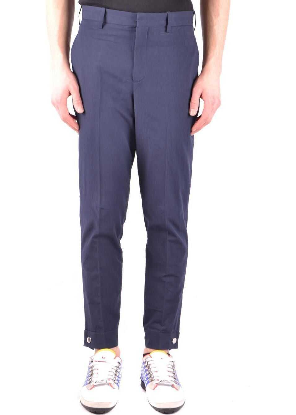Neil Barrett Cotton Pants BLUE