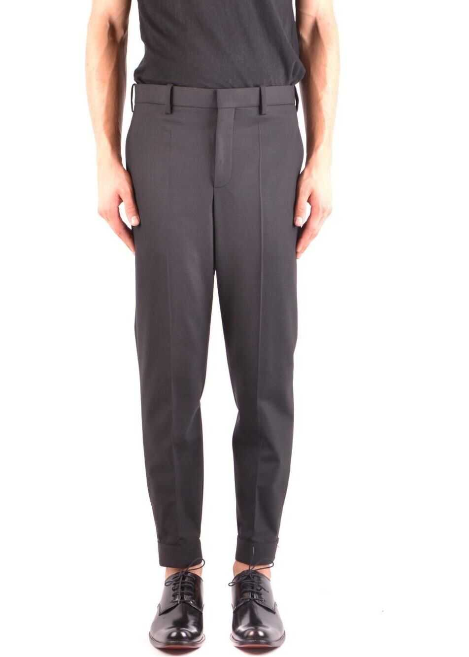Neil Barrett Polyester Pants BLACK