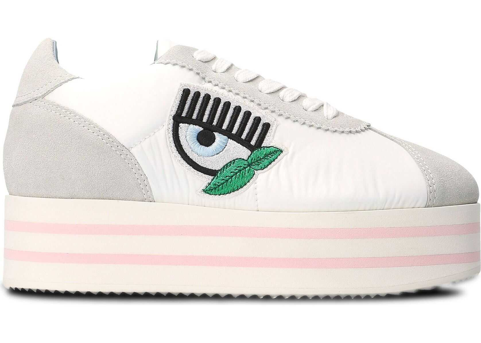 Chiara Ferragni Leather Sneakers WHITE
