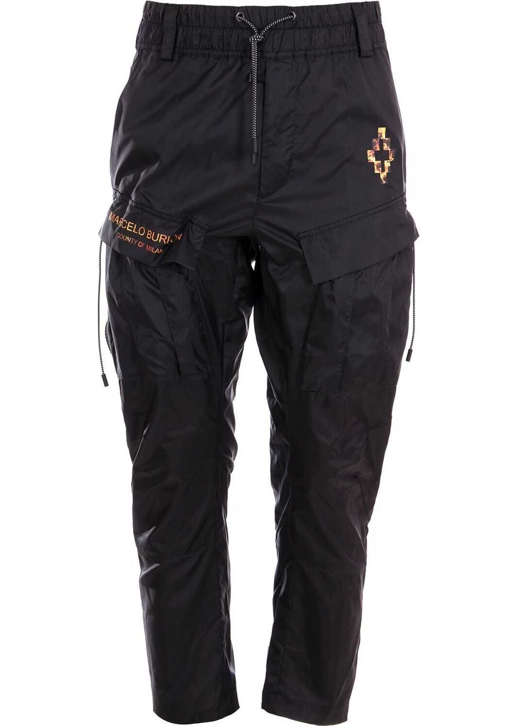 Marcelo Burlon Polyester Pants BLACK