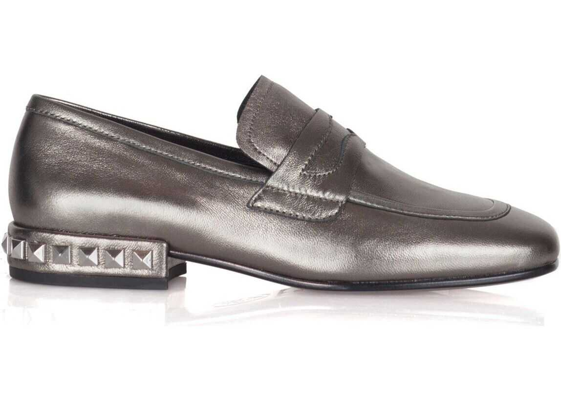 ASH Leather Loafers GREY