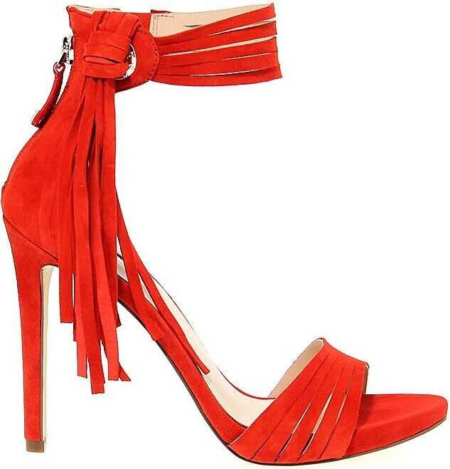 GUESS Suede Sandals RED