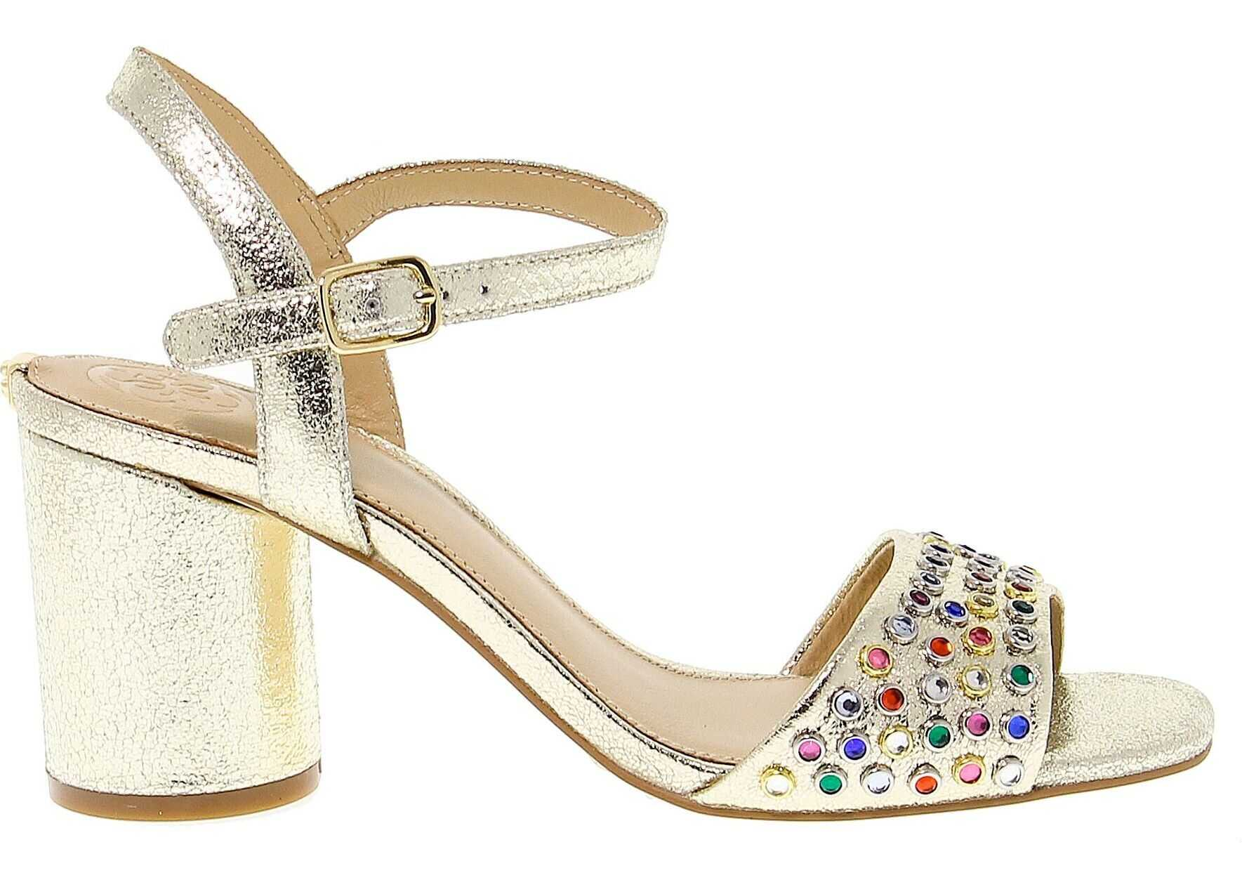 GUESS Leather Sandals GOLD