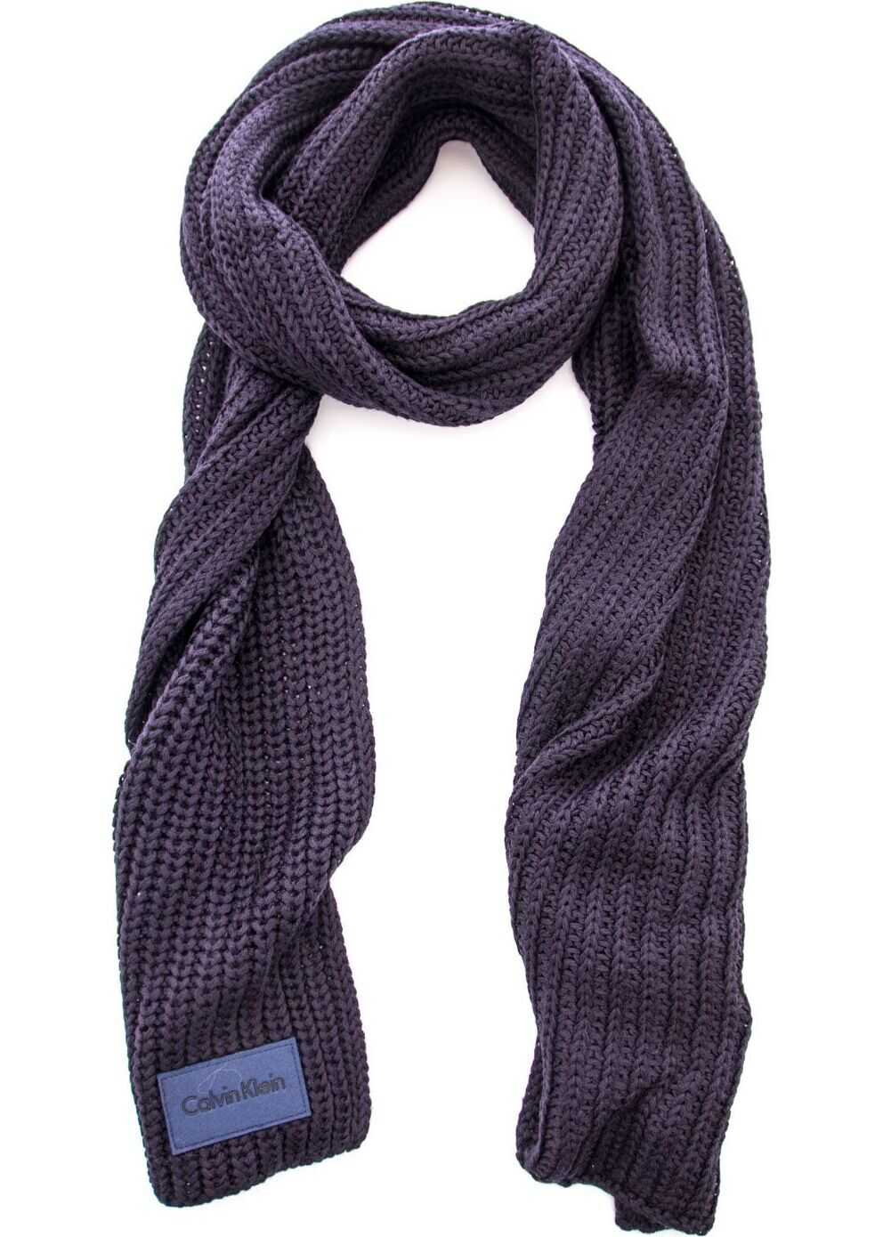 Calvin Klein Wool Scarf BLUE