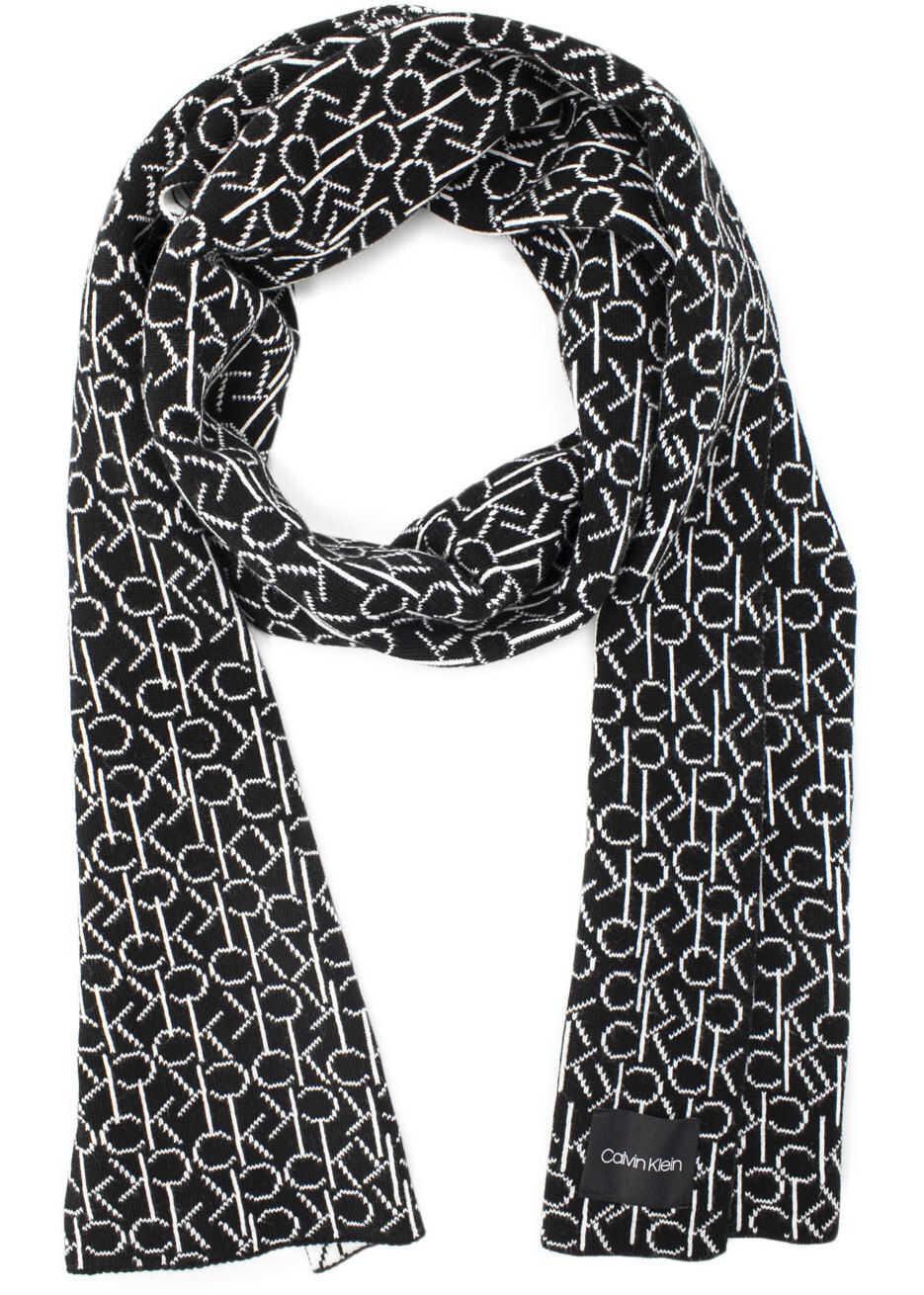 Calvin Klein K50K504102Blk Cotton Scarf BLACK