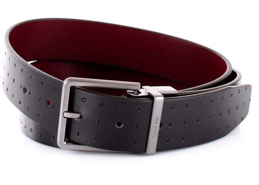 Calvin Klein K50K504143001 Leather Belt BLACK