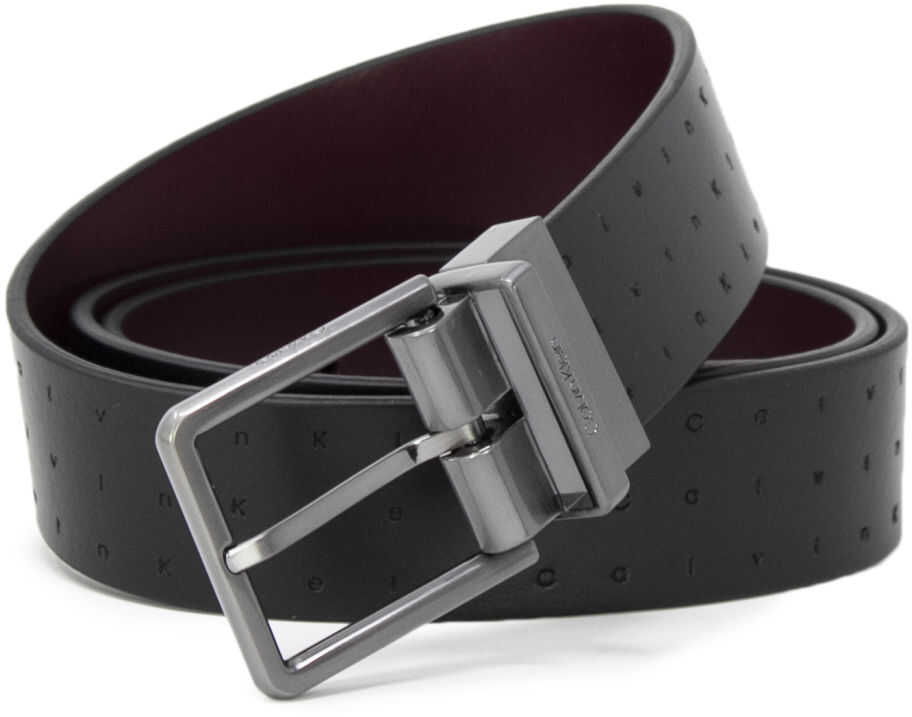 Calvin Klein K50K504143Black Leather Belt BLACK