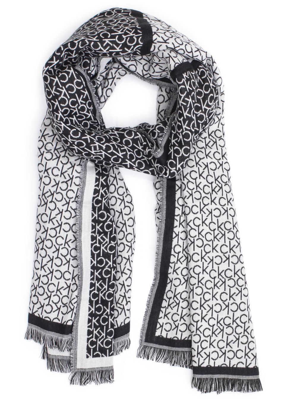 Calvin Klein K60K604709White Viscose Scarf WHITE