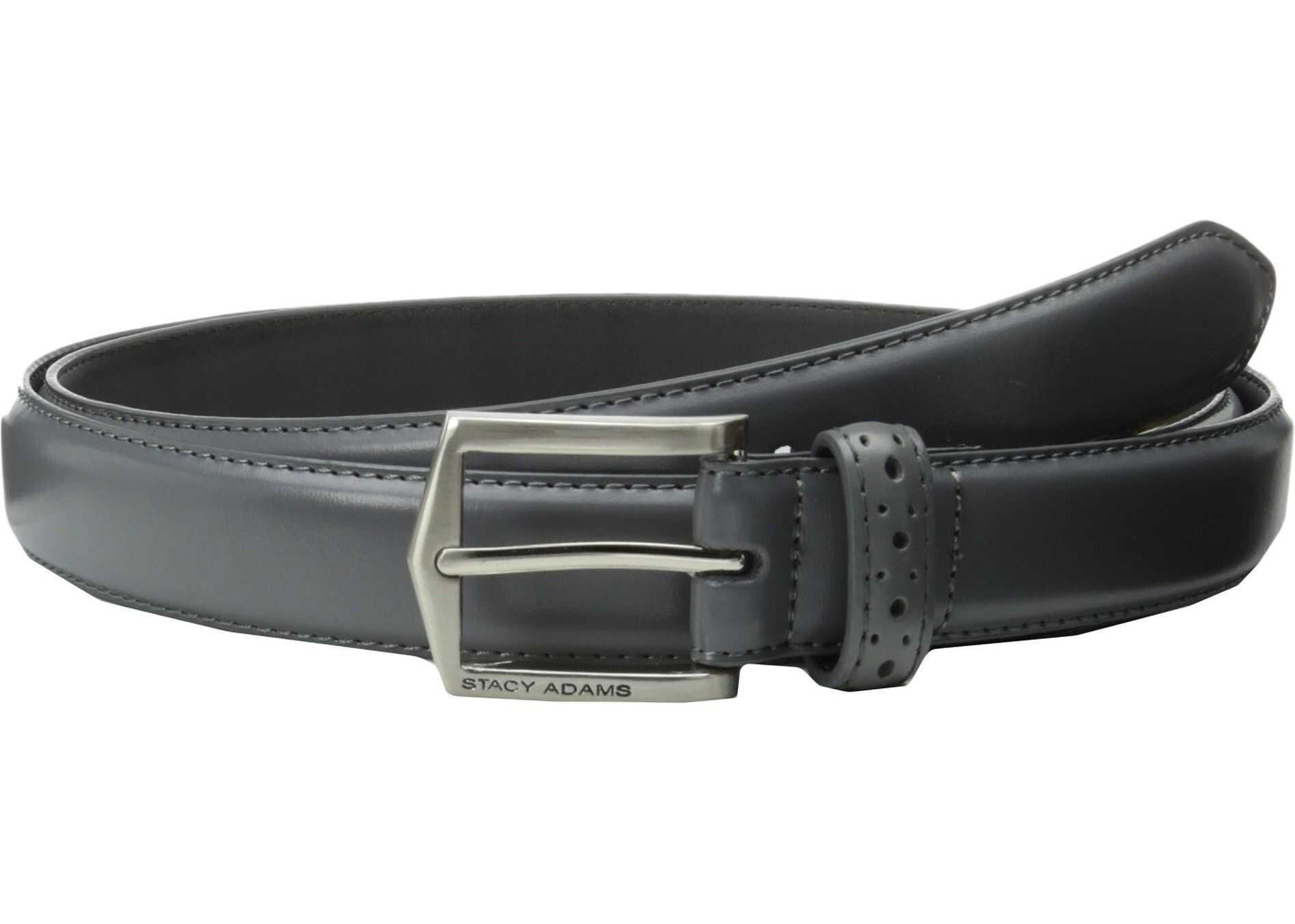 Stacy Adams 30mm Pinseal Leather Belt X Gray