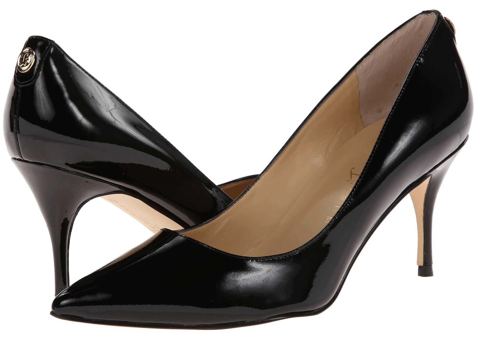 Pantofi Cu Toc Ivanka Trump Tirra Black Patent