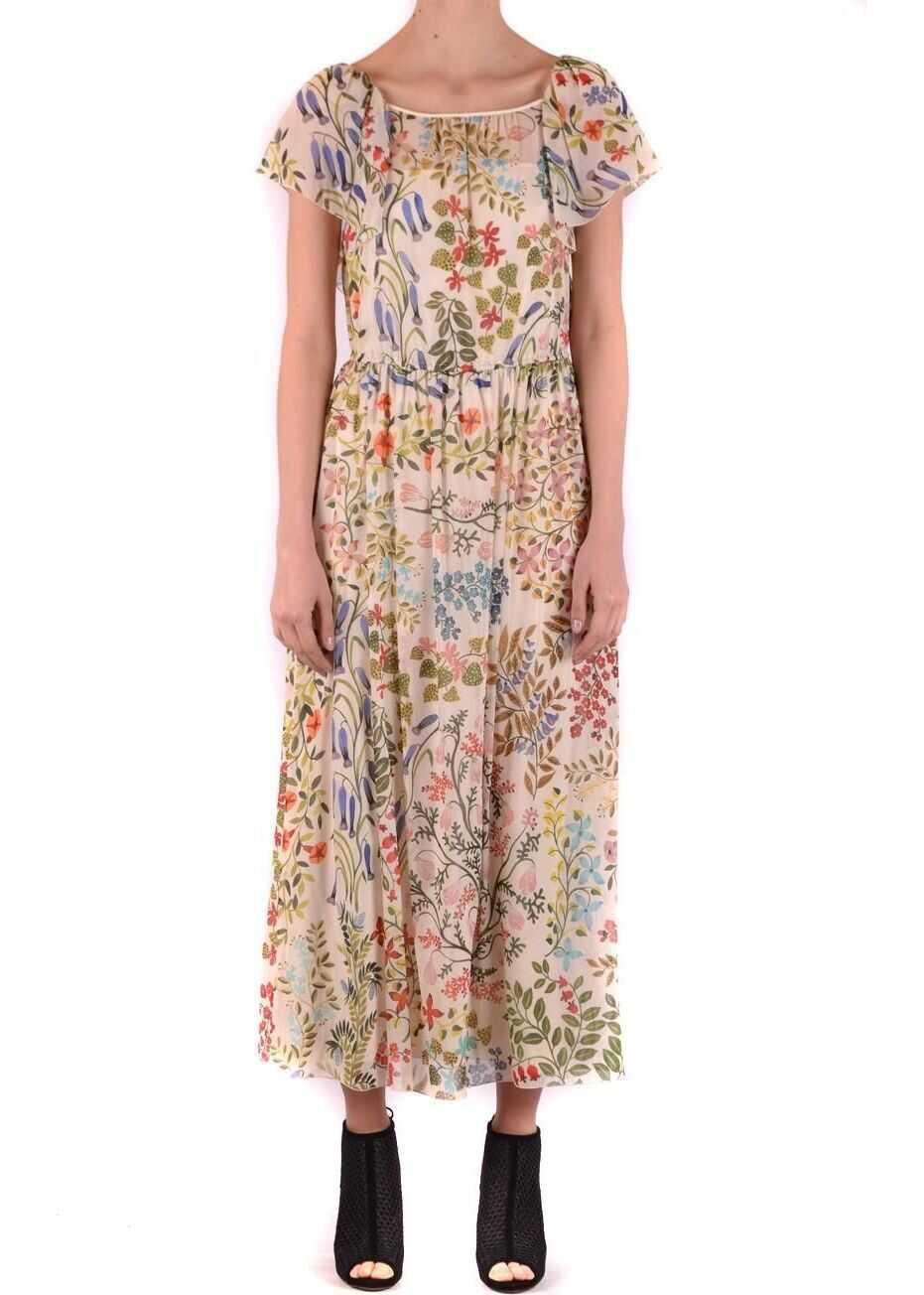 RED VALENTINO Silk Dress MULTICOLOR