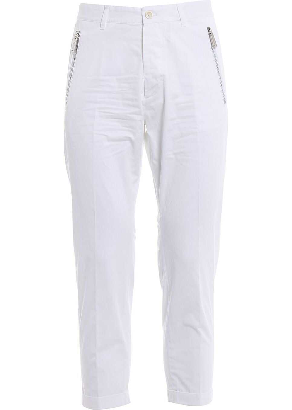DSQUARED2 Cotton Pants WHITE