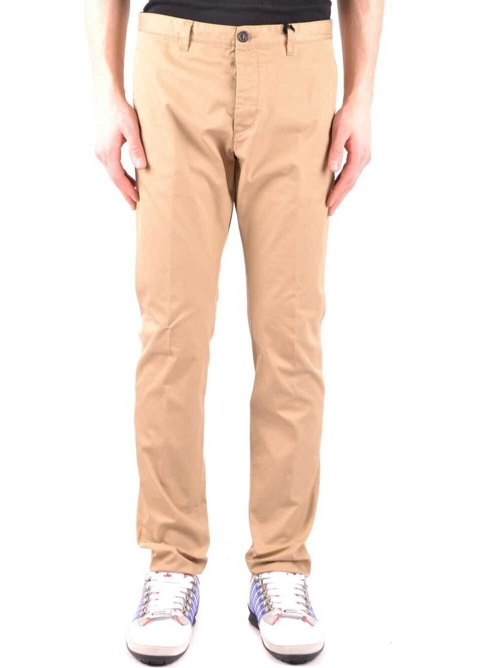 DSQUARED2 Cotton Pants BEIGE