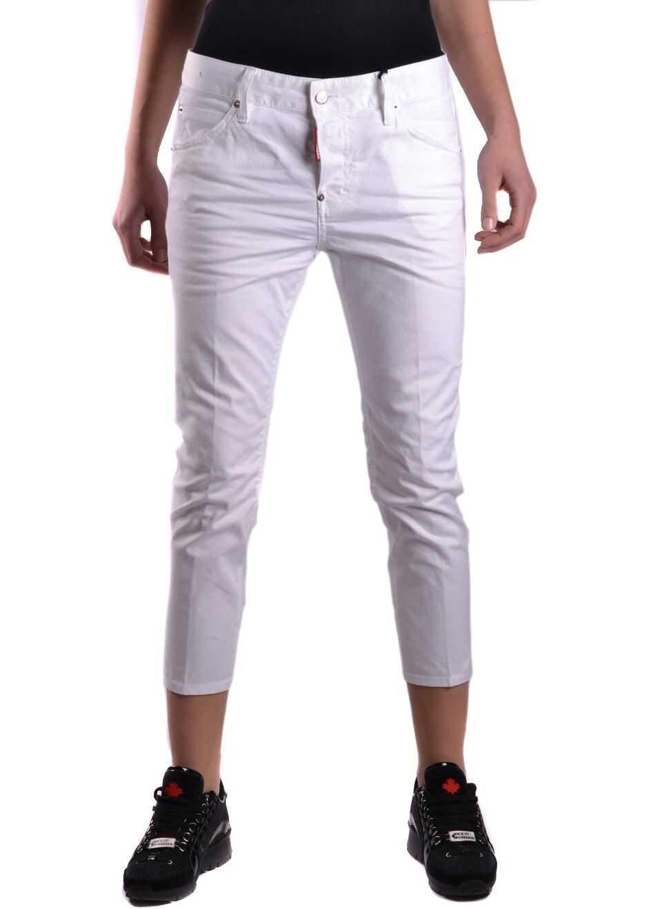 DSQUARED2 Cotton Jeans WHITE