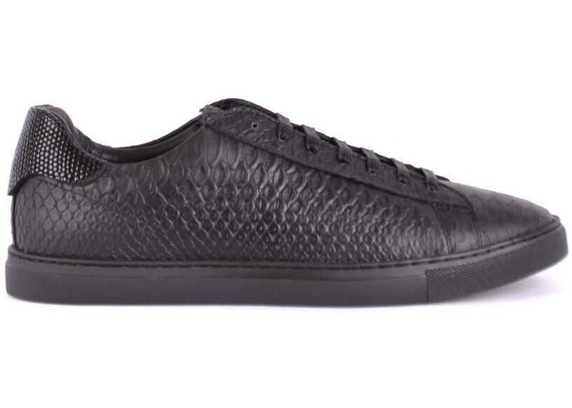DSQUARED2 Leather Sneakers BLACK