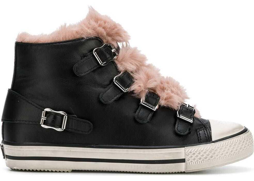 ASH Leather Hi Top Sneakers BLACK