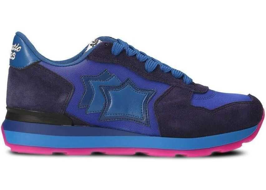 Atlantic Stars Leather Sneakers BLUE