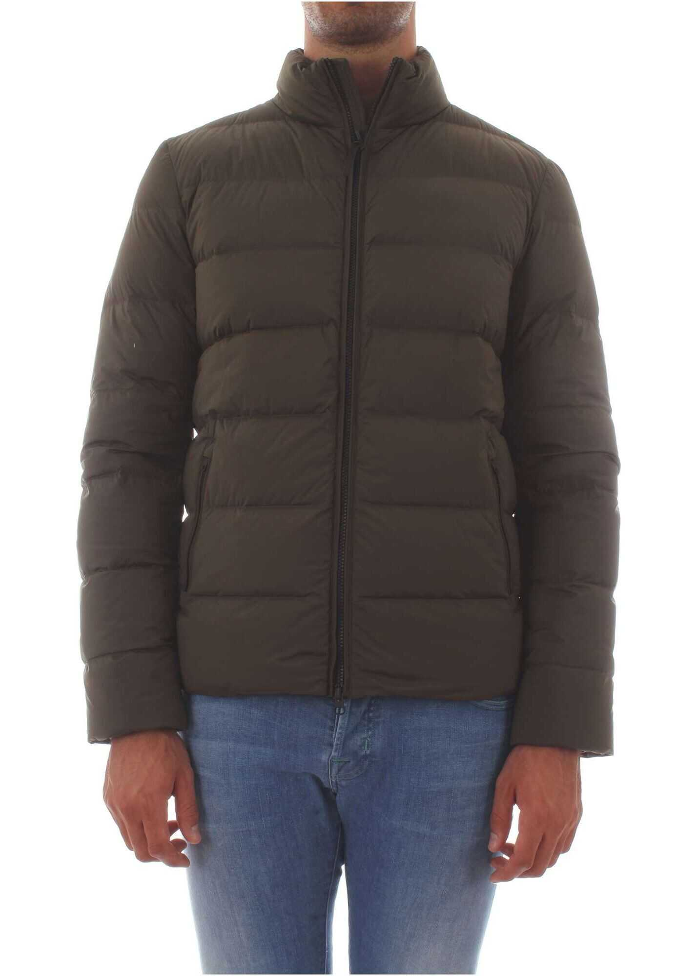 Woolrich Polyamide Down Jacket GREEN