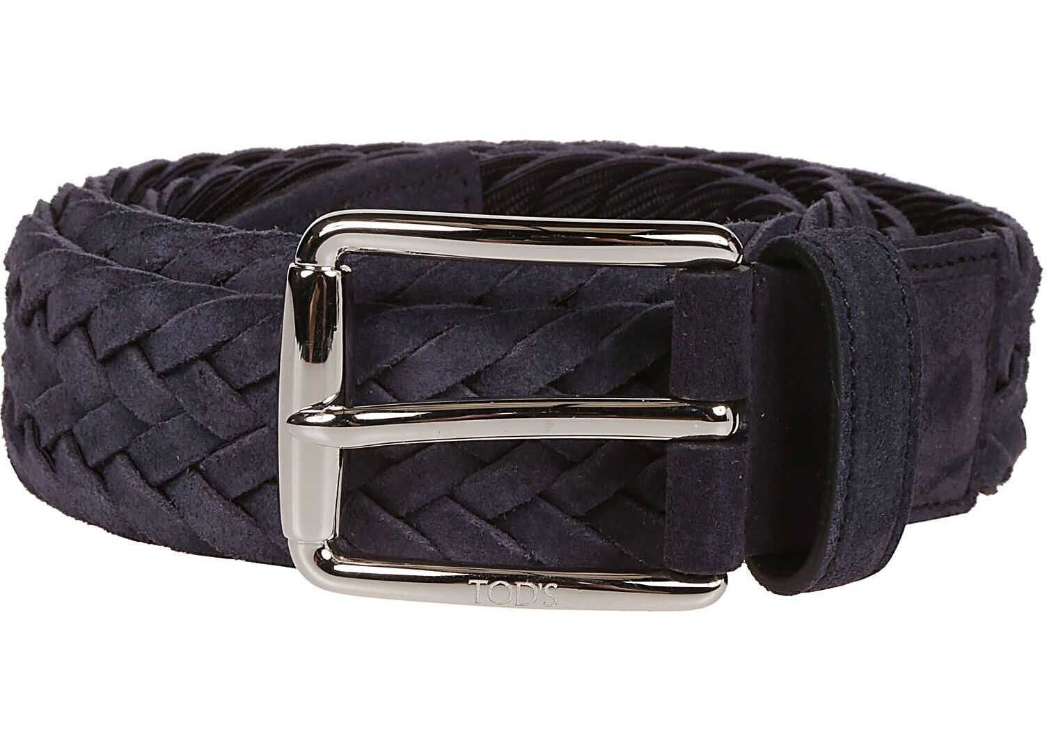 TOD'S Xcmcpr23100Hmk9998 Fabric Belt BLUE