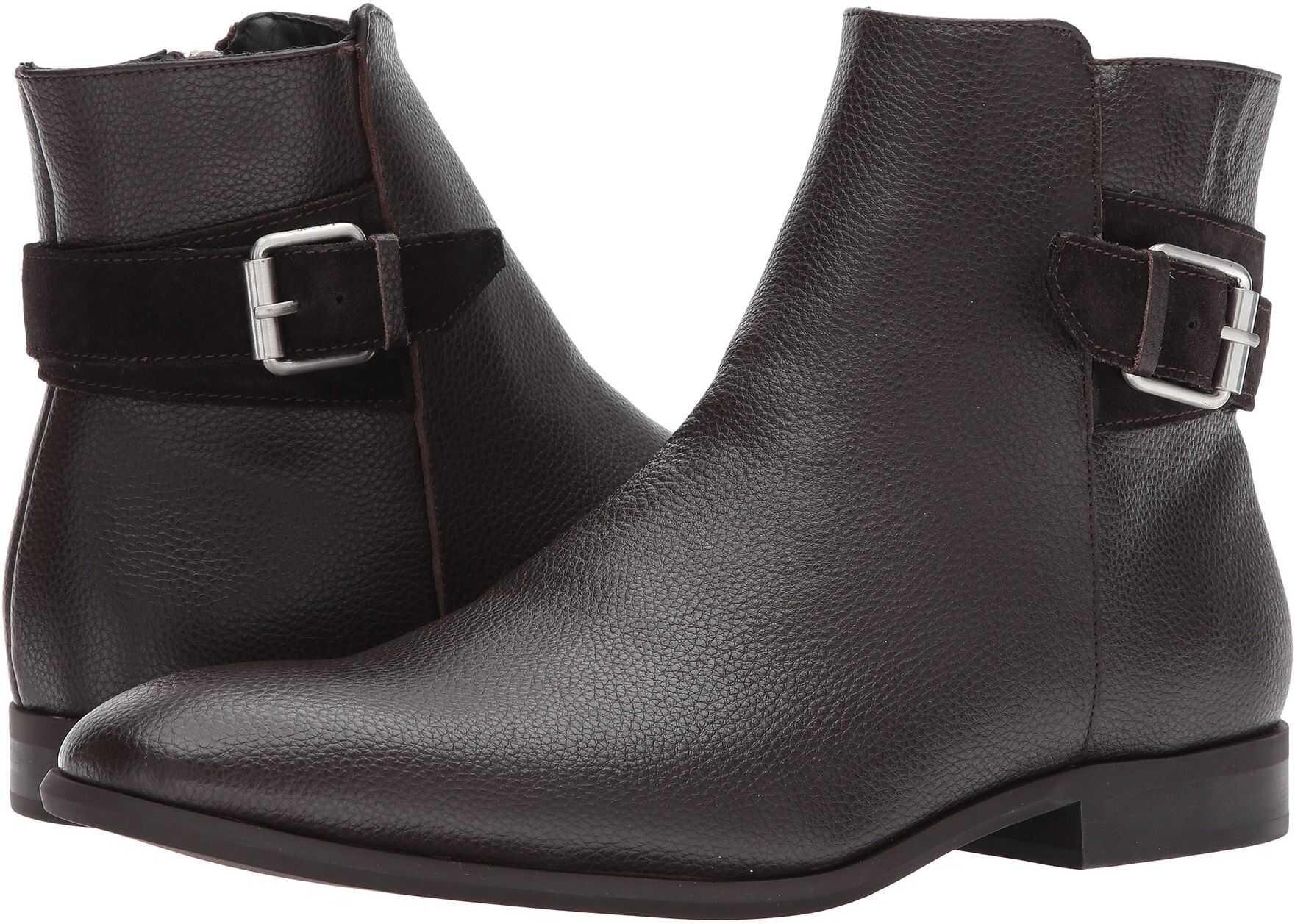 Calvin Klein Lorenzo Dark Brown Tumbled Leather