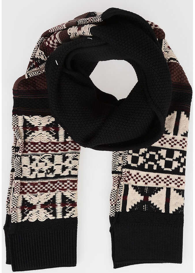 Maison Margiela Cotton e Wool Scarf MULTICOLOR
