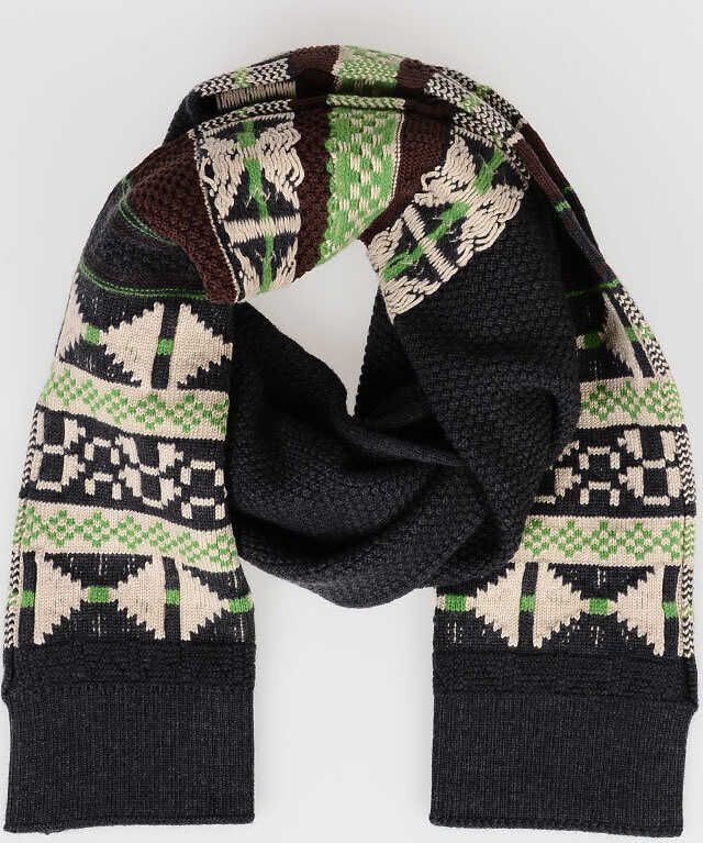 Maison Margiela Wool And Cotton Scarf MULTICOLOR