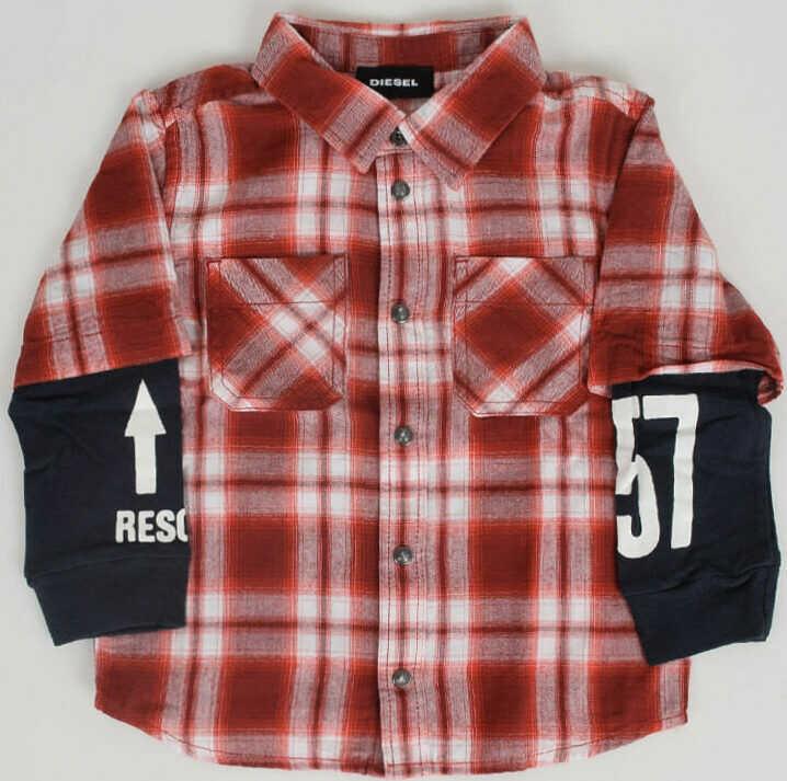 Camasi Fete Diesel Kids Checked Shirt