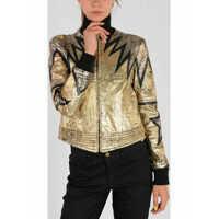 Geci de Piele Leather Embroidered Jacket Femei