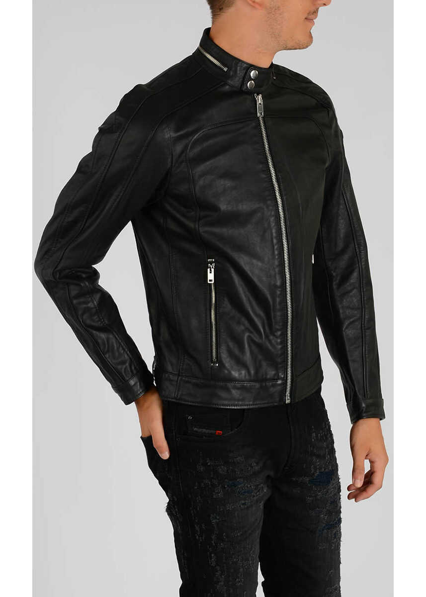 Diesel Leather L-FERGUSON Jacket BLACK