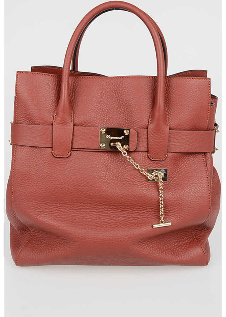 DSQUARED2 Leather Tote Bag RED