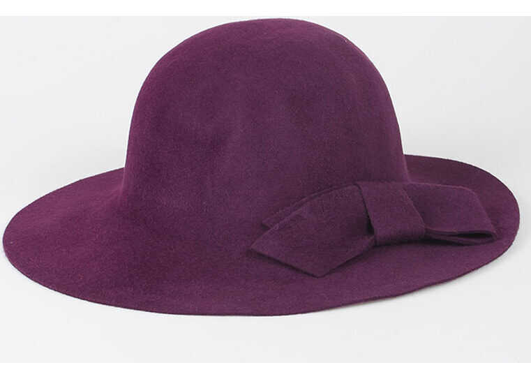 Lanvin Coco Hat with Bow VIOLET