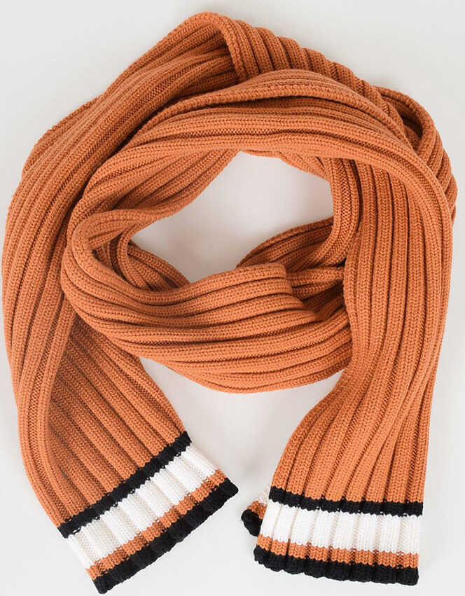 Valentino Garavani Virgin Wool Scarf ORANGE