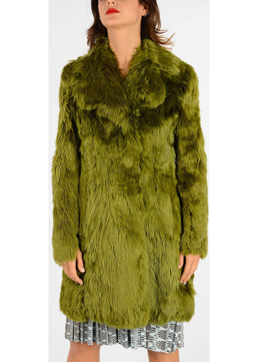 Maison Margiela MM1 Alpaca Real Fur Coat GREEN