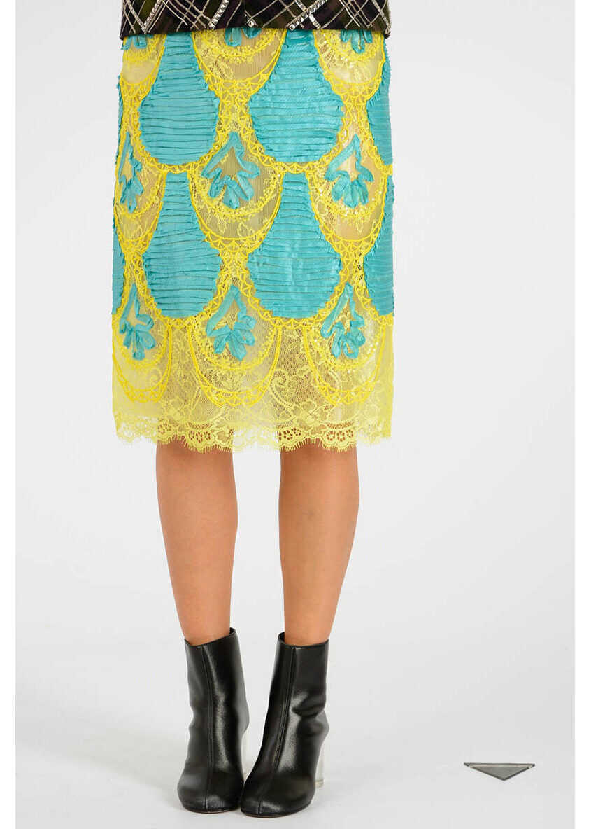 Maison Margiela MM0 Embroidery Laced Skirt MULTICOLOR