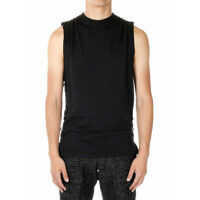Tricouri Sleeveless LONG COOL T-shirt with Leather Details Barbati