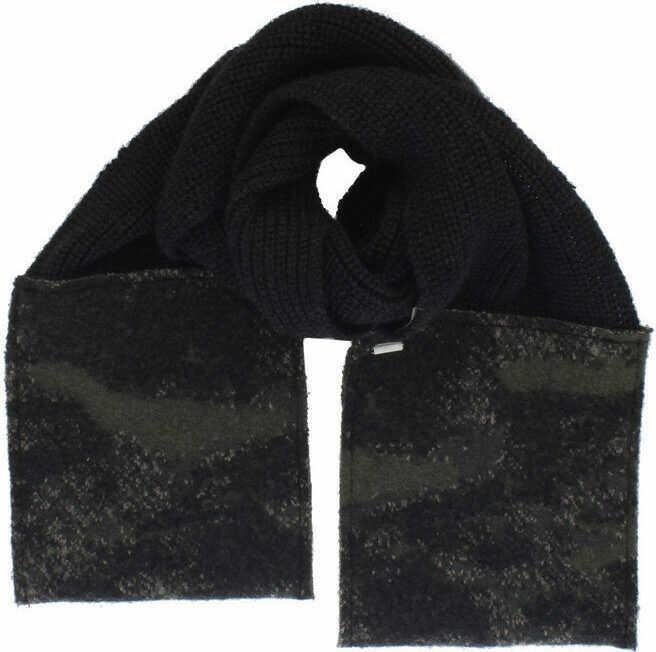 Diesel Wool Blend K-WALTER Scarf with camouflage details N/A