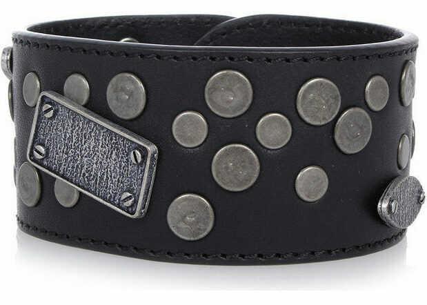 Bratari Barbati Maison Margiela MM11 Leather Bracelet with Details