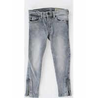 Blugi drepti Stretch Denim SKINZEE-LOW-ZIP Jeans with Swarovski Baieti