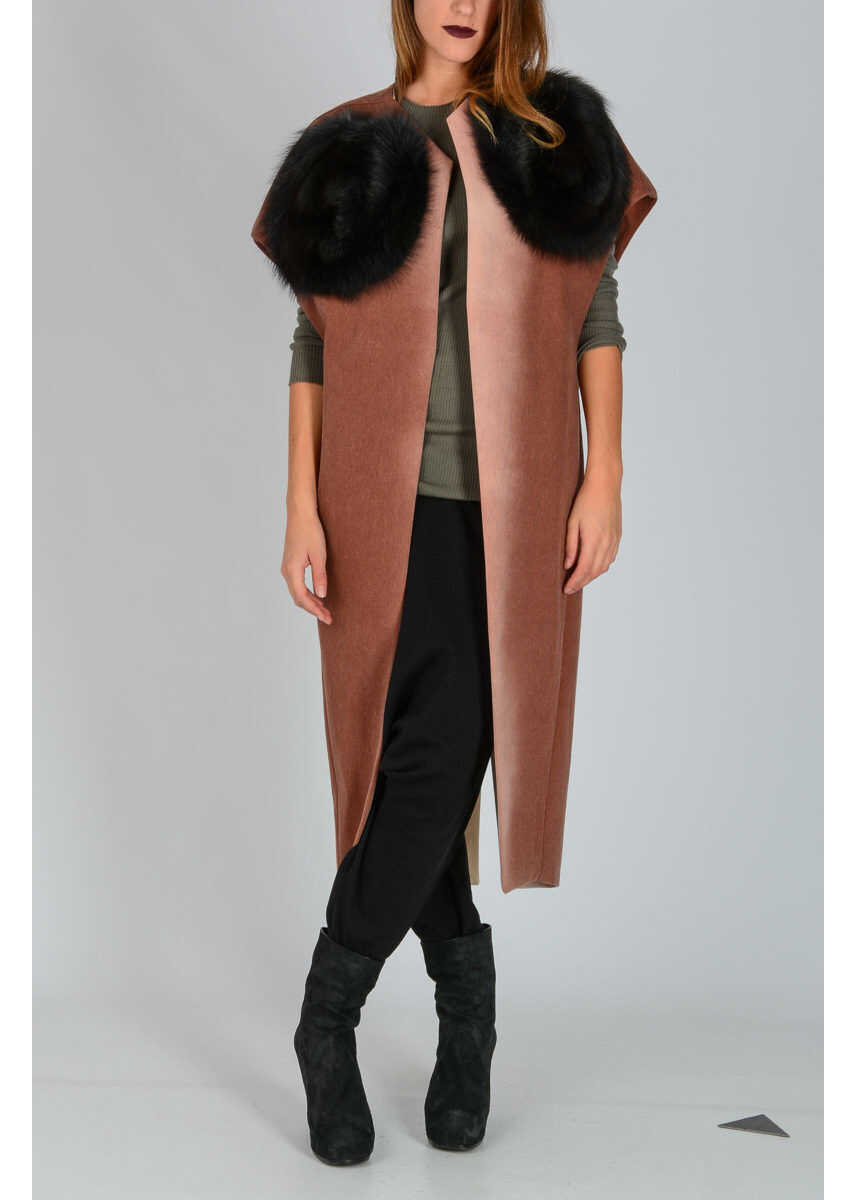 Rick Owens WHIRLPOOL Coat in THROAT/NATURAL RED