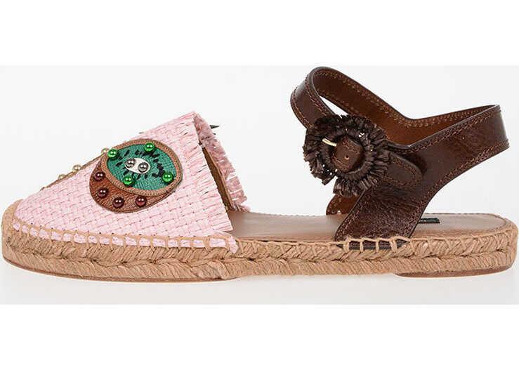 Dolce & Gabbana Rafia Espadrillas PINK