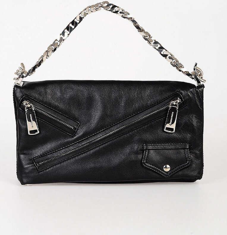 DSQUARED2 Leather Clutch Bag BLACK